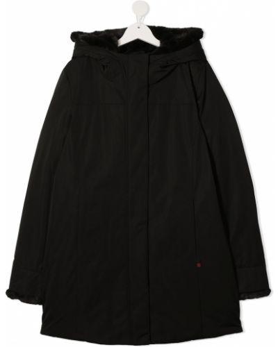 Черная классическая с рукавами парка с карманами Woolrich Kids