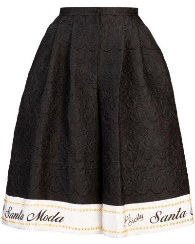 Юбка миди с завышенной талией юбка-шорты Dolce&gabbana