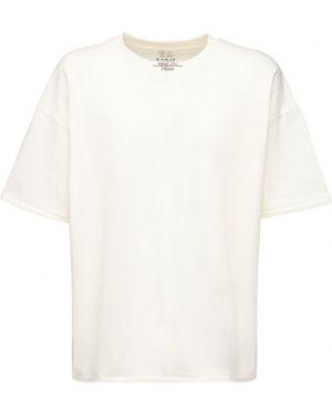 Biały t-shirt oversize z haftem Handle With Freedom