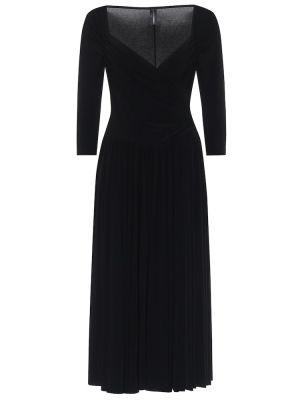 Платье миди из штапеля черное Norma Kamali