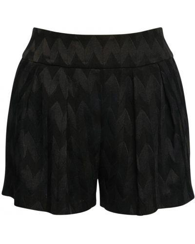 Шерстяные черные шорты с карманами Missoni