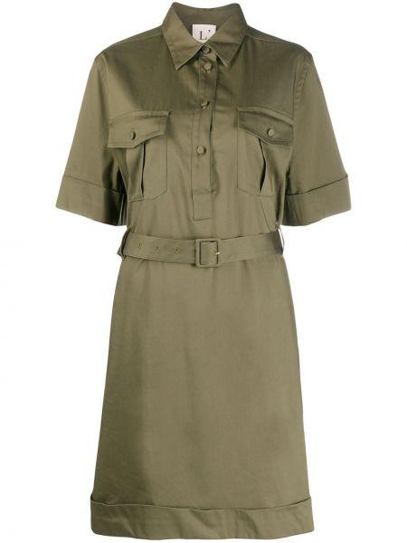 Платье с поясом на пуговицах классическое Lautre Chose