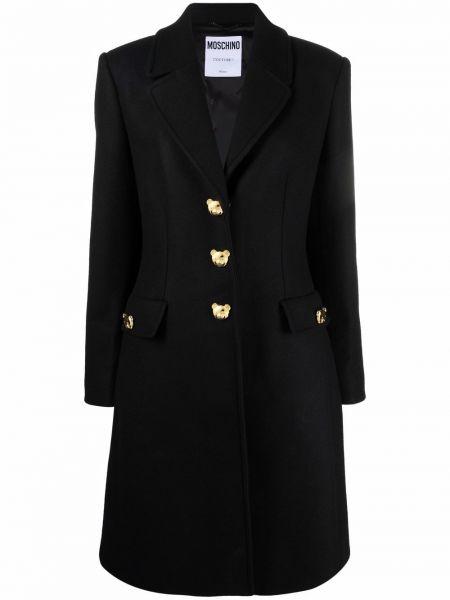 Черное пальто из вискозы Moschino