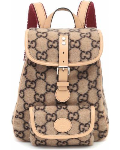 Beżowy skórzany plecak Gucci Kids