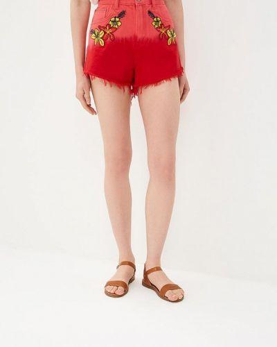 Красные джинсовые шорты Glamorous