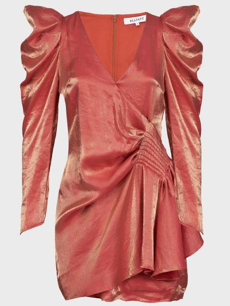 Розовое платье из вискозы на молнии Elliatt