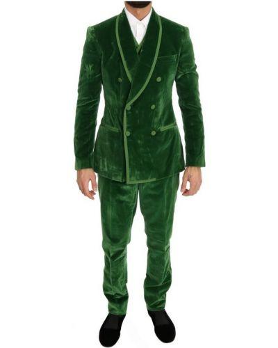 Zielony garnitur Dolce And Gabbana
