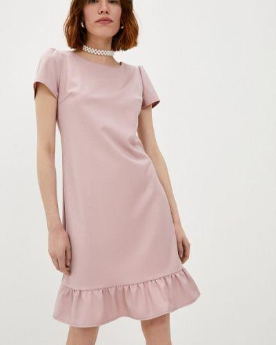 Прямое розовое платье А-силуэта Raya