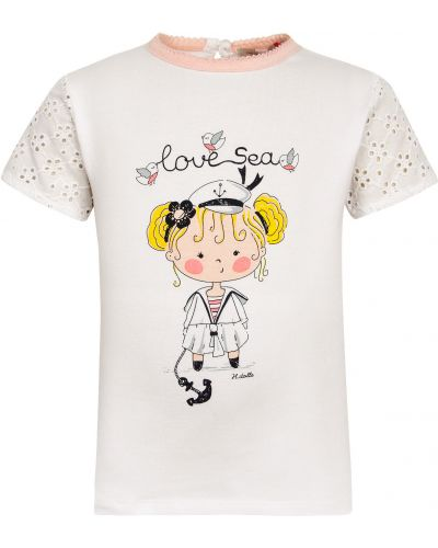 Хлопковая футболка - белая Silvian Heach Kids