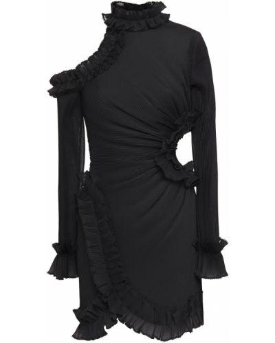 Ażurowa czarna sukienka mini Zimmermann