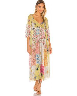 Платье макси из вискозы прозрачное Loveshackfancy
