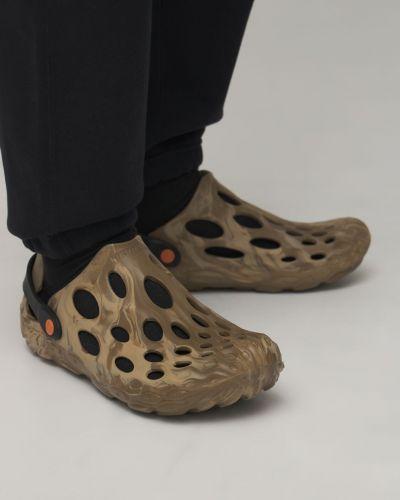 Сандалии на каблуке - зеленые Merrell