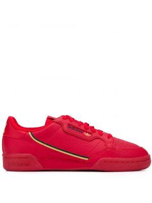 Кожаные кроссовки в полоску на шнуровке Adidas