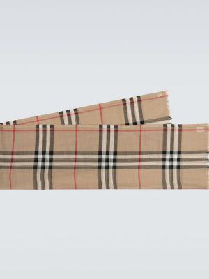 Облегченный бежевый шерстяной шарф Burberry