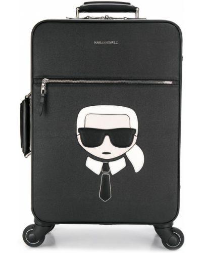 Чемодан черный Karl Lagerfeld