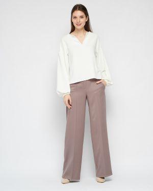 Повседневная блузка свободного кроя из вискозы с длинными рукавами Fiato