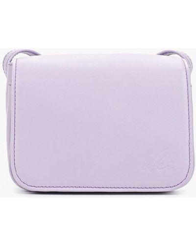 Кожаная сумка через плечо фиолетовый Olci