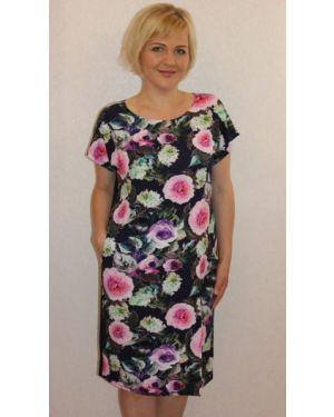 Платье розовое из вискозы инсантрик