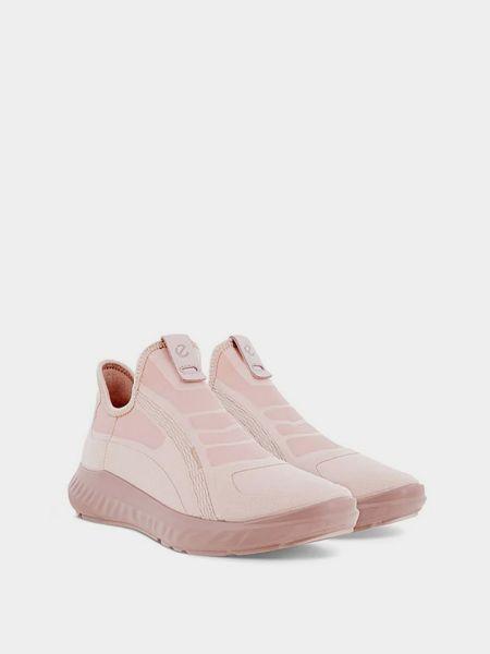 Кожаные кроссовки - розовые Ecco