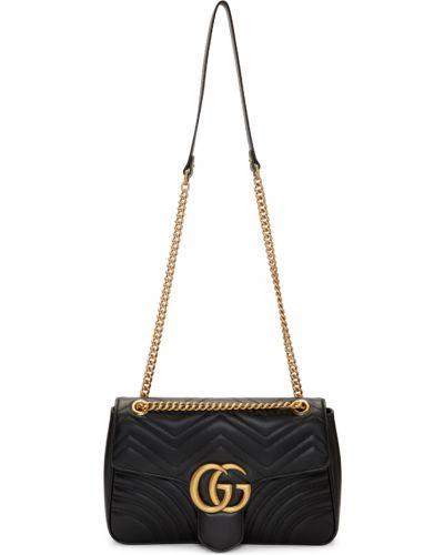 Złota torebka na łańcuszku - czarna Gucci