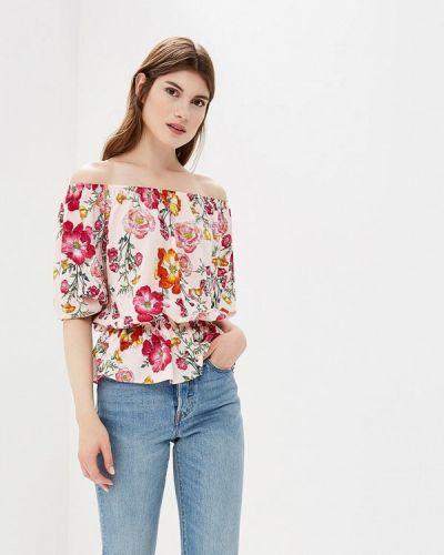 Блузка с открытыми плечами розовая весенний Froggi