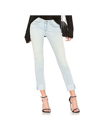 Прямые джинсы укороченные с манжетами Rag & Bone/jean
