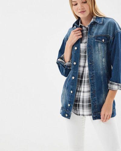 Джинсовая куртка весенняя синий Fascinate