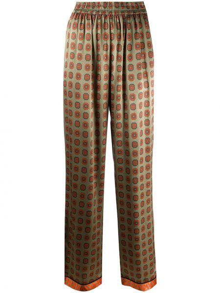 Зеленые свободные брюки свободного кроя с поясом Cecilie Copenhagen
