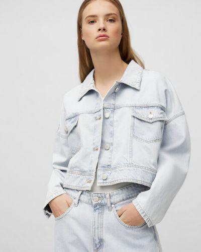 Niebieska kurtka jeansowa bawełniana oversize Marc O Polo