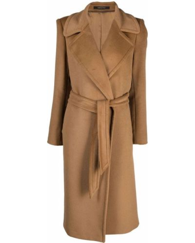 Бежевое пальто длинное Tagliatore