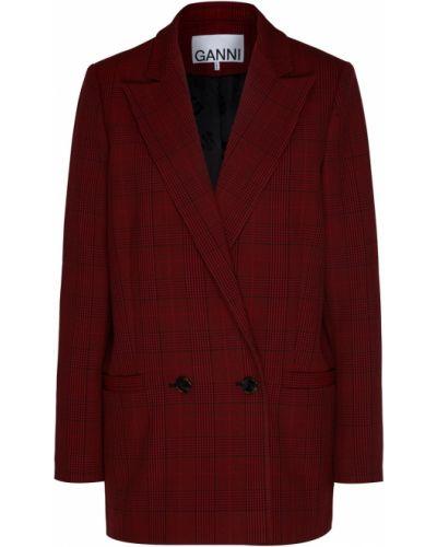 Пиджак свободный бордовый Ganni