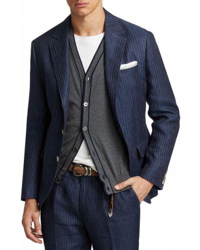 Кашемировая куртка - синяя Brunello Cucinelli
