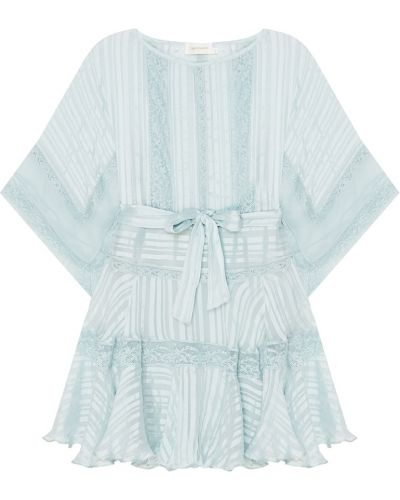 Платье мини в полоску со вставками Zimmermann
