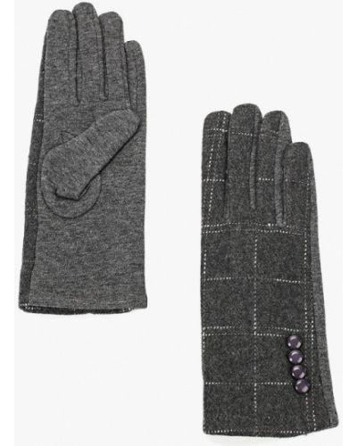 Серые перчатки текстильные Keddo