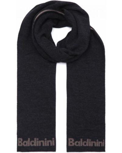 Трикотажный серый шарф Baldinini