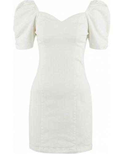 С рукавами белое платье мини Love Republic