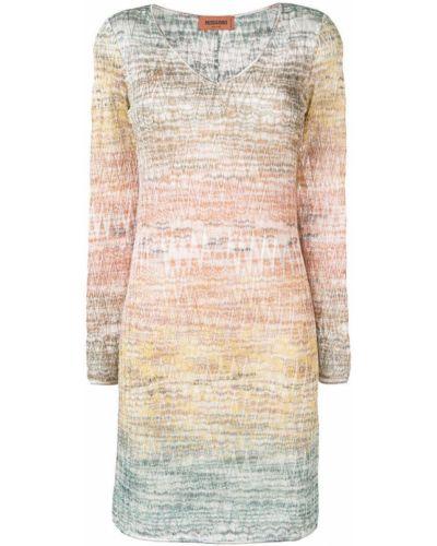 Платье миди трикотажное с V-образным вырезом Missoni