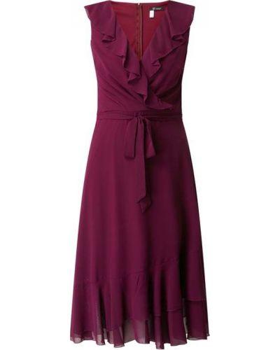 Sukienka koktajlowa rozkloszowana z falbanami bez rękawów Paradi