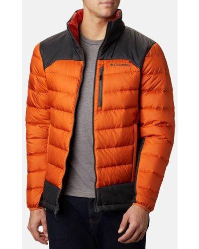 Оранжевая пуховая куртка Columbia