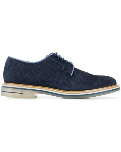 Дерби на шнуровке - синие Brimarts