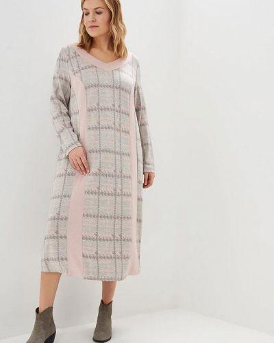 Повседневное платье осеннее бежевое Zar Style