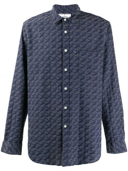 Фланелевая классическая рубашка с воротником с заплатками с манжетами Portuguese Flannel