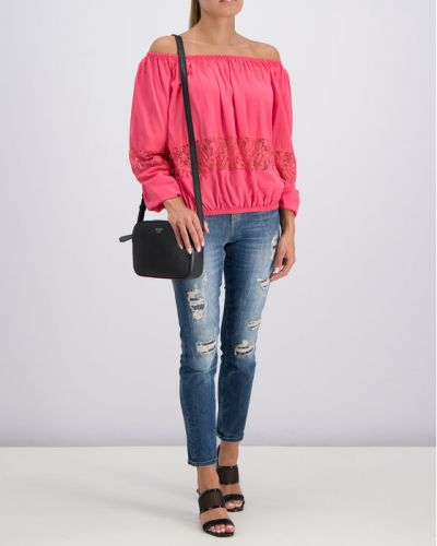 Bluzka - różowa Guess