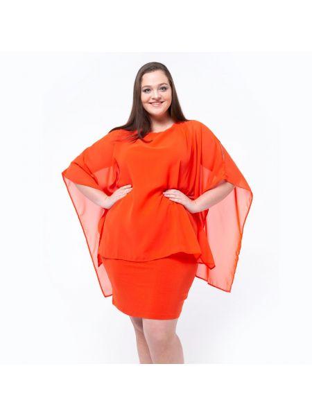 Платье миди из вискозы с рукавами La Redoute