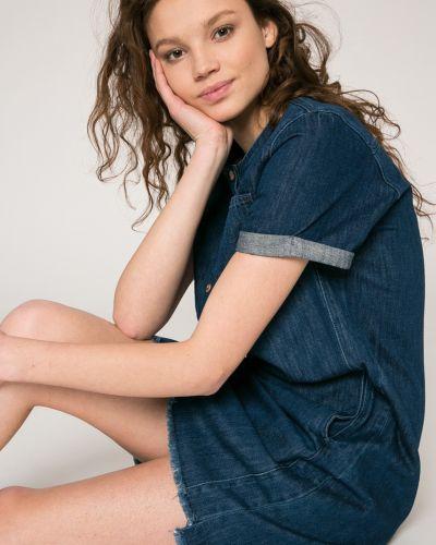 Платье мини джинсовое свободного кроя Lee