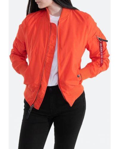 Серая с рукавами куртка MA-1 на кнопках Alpha Industries