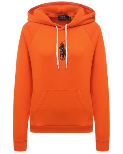Хлопковое худи - оранжевое Polo Ralph Lauren
