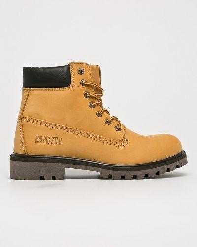 Кожаные ботинки текстильные из нубука Big Star