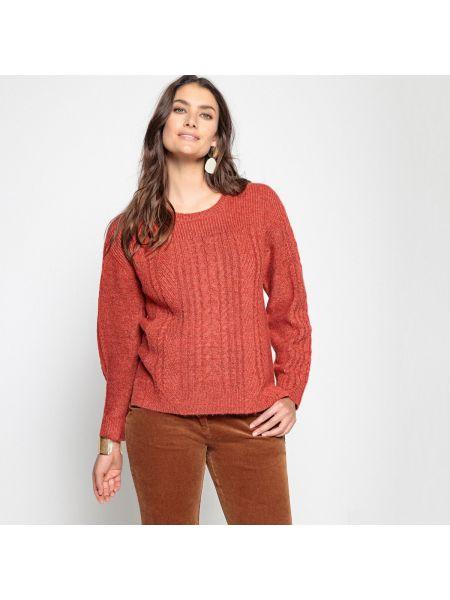 Пуловер с узором коса шерстяной Anne Weyburn
