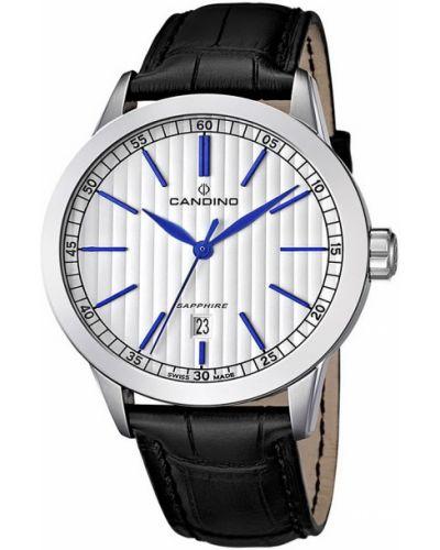 Часы водонепроницаемые кварцевые с кожаным ремешком Candino